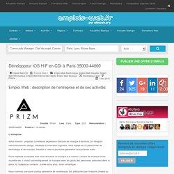 Emploi Emplois-Web.fr recrute Développeur iOS H/F en CDI à Paris 35000-44000 Emploi Web - Emploi Startups - Emplois-Web.fr