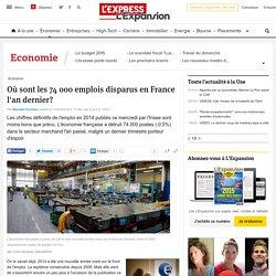 Où sont les 74 000 emplois disparus en France l'an dernier? - L'Express L'Expansion