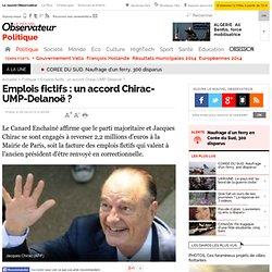 Emplois fictifs : un accord Chirac-UMP-Delanoë ? - Politique