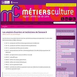 Les emplois d'ouvriers et techniciens de l'annexe 8 - Métiers Culture