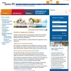 Emplois et stages pour étudiants- Emploi-Québec