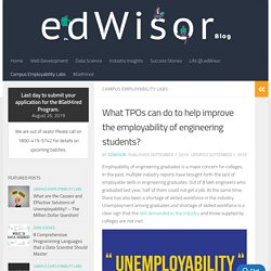 What TPOs can do to help improve the employability of engineering students?