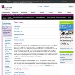 Careers, Employability and Enterprise Centre : Psychology