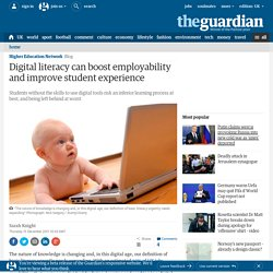 Digital literacy can boost employability and improve student experience