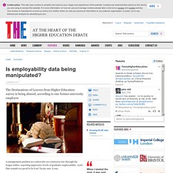 Is employability data being manipulated?