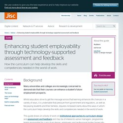Enhancing student employability through technology-supported assessment and feedback