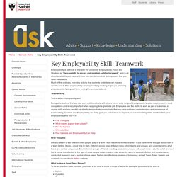 Key Employability Skill: Teamwork