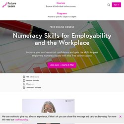 Numeracy Skills for Employability and the Workplace - Free online course