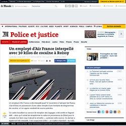 Un employé d'Air France interpellé avec 30kilos de cocaïne à Roissy