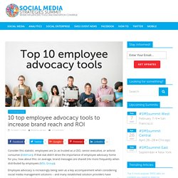 10 top employee advocacy tools to increase brand reach and ROI