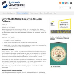 Buyer Guide: Social Employee Advocacy Software