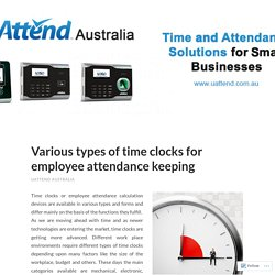 Various types of time clocks for employee attendance keeping