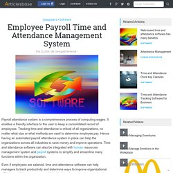 Employee Payroll Time and Attendance Management System