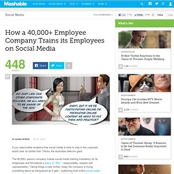 How a 40,000+ Employee Company Trains its Employees on Social Me