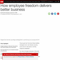 How employee freedom delivers better business