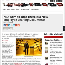 NSA Admits That There is a New Employee Leaking Documents