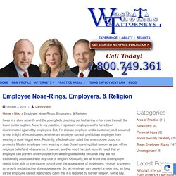 Employee Nose-Rings, Employers, & Religion