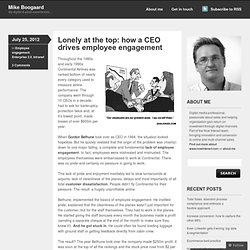 Lonely at the top: how a CEO drives employee engagement