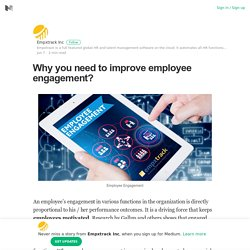 Why you need to improve employee engagement?