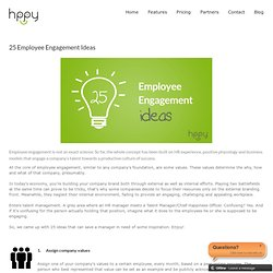 25 Employee Engagement Ideas - Hppy Blog