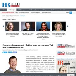 Employee Engagement - Taking your survey from Tick box to...