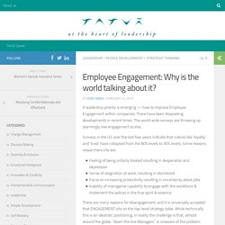 Employee Engagement: Why Is The World Talking About It?
