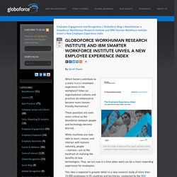 New Employee Experience Index from IBM and Globoforce