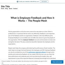 What is Employee Feedback and How it Works – The People Mesh – Site Title