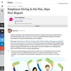 Employee Giving Is On Fire, Says New Report