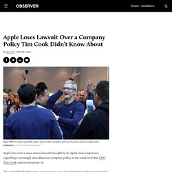 Apple Loses Employee Lawsuit Over 'Exit Security Check' at Stores