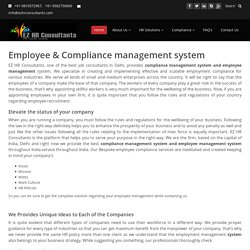 Hire Best Consultants Compliance Management System and Employee Management System