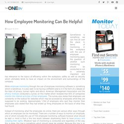 How Employee Monitoring Can Be Helpful