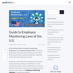 Guide to Employee Monitoring Laws of the U.S.