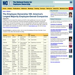 The Employee Ownership 100: America's Largest Majority Employee-Owned Companies