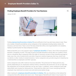 Finding Employee Benefit Providers for Your Business