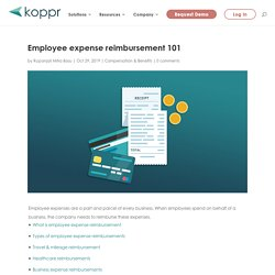 Employee expense reimbursement - How to handle employee expenses