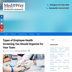 Types of Employee Health Screening You Should Organize for Your Team