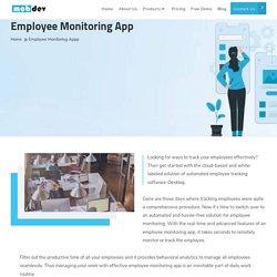 Employee Tracking App - mobdev-app