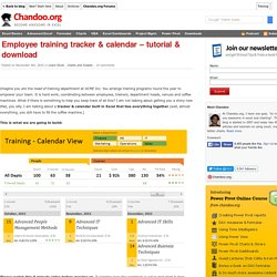 Employee training tracker & calendar – tutorial & download