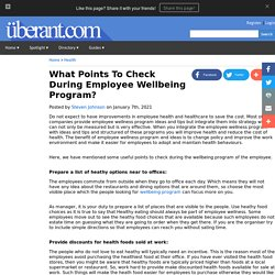 What Points To Check During Employee Wellbeing Program?