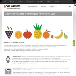 Employee Wellness Program Ideas