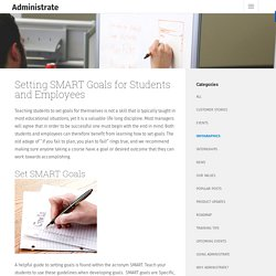 Setting SMART Goals for Students and Employees