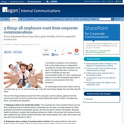 5 things all employees want from corporate communications