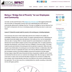 "Being a ""Bridge Out of Poverty"" for our Employees and Community"