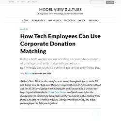 How Tech Employees Can Use Corporate Donation Matching