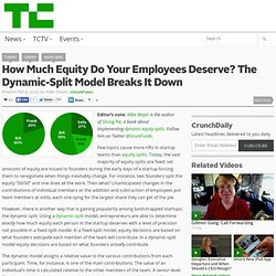 How Much Equity Do Your Employees Deserve? The Dynamic-Split Model Breaks It Down