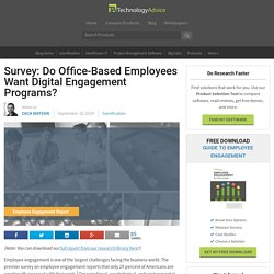 Do Employees Want to Use Digital Engagement Programs?