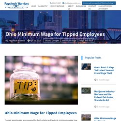 Ohio Minimum Wage for Tipped Employees - PayCheck Warriors