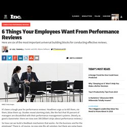 6 Things Your Employees Want From Performance Reviews