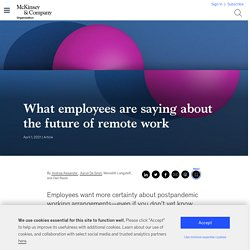 What employees are saying about the future of remote work